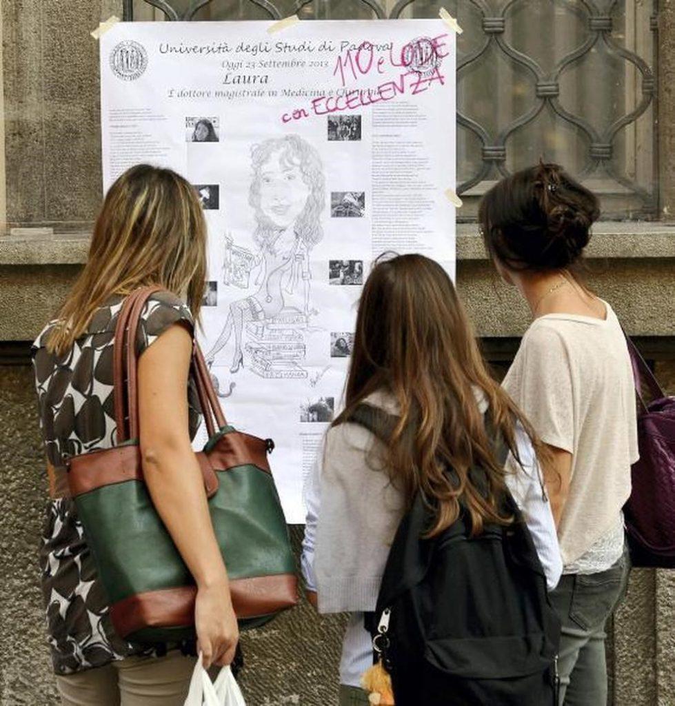 affissione papiro laurea