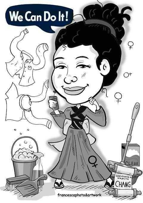 Caricature laurea di Francesca