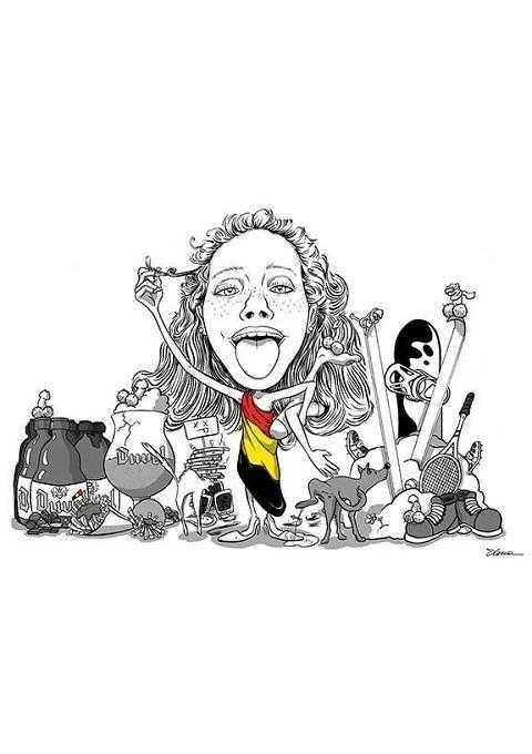 Caricature di laurea di Elena
