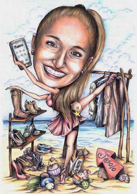 Caricature di laurea di Serena