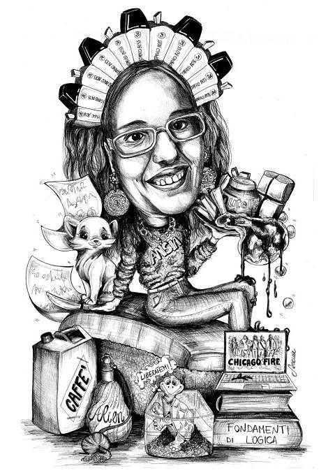 Caricature laurea di Serena