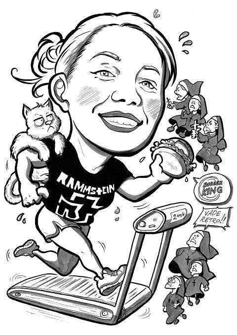 Caricature laurea di Laura