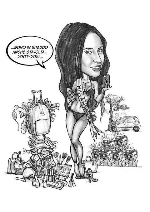 Caricature laurea di paolo