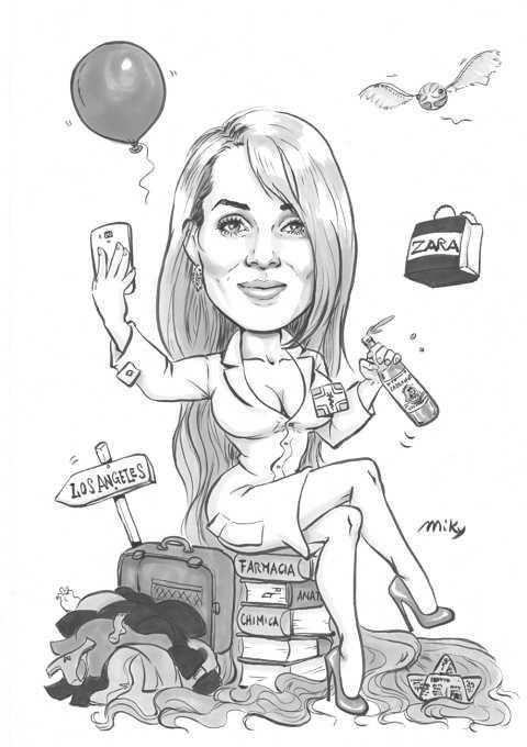 Caricature di laurea di Micaela Buzzi