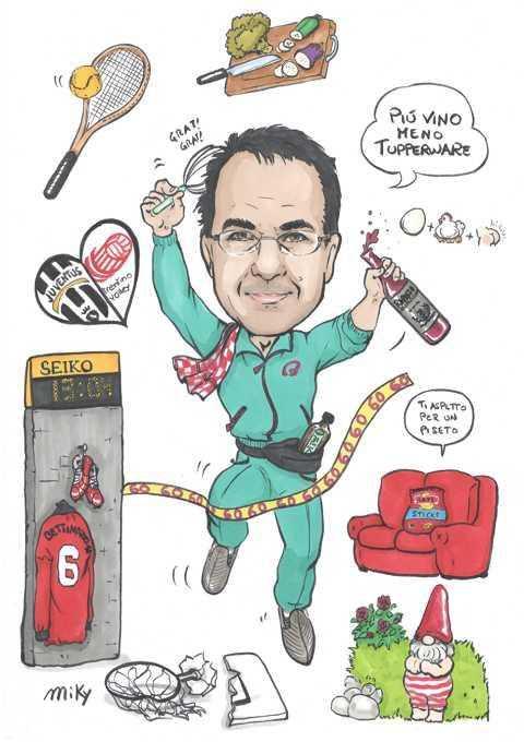 Caricature laurea di Micaela