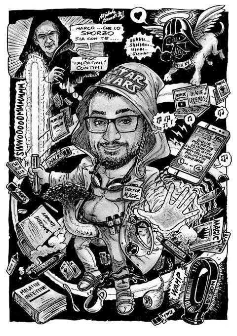 Caricature di laurea di Michele