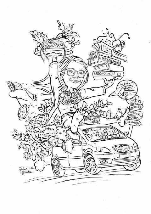 Caricature laurea di Giulia