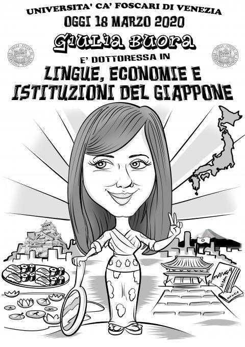 Caricature laurea di Diego