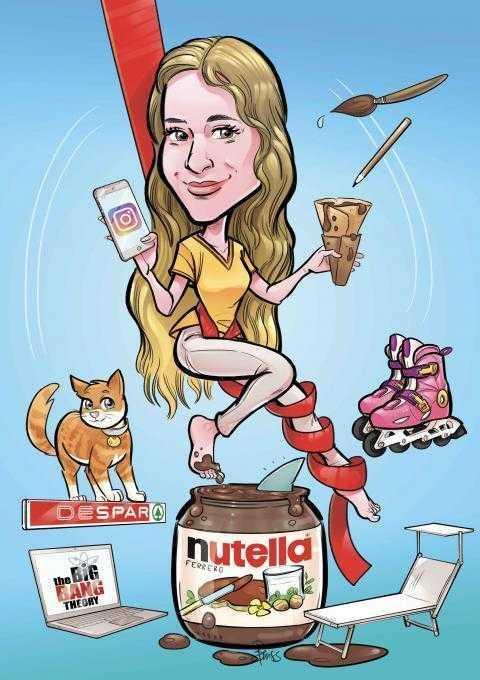 Caricature di laurea di Benedetta Dossi