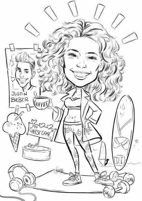 Caricature laurea di Benedetta